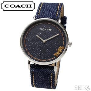 (5年保証)  コーチ COACH ペリー  (14503305) レディース 時計デニム ネイビー レザー|ryus-select