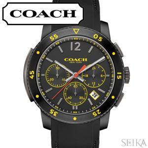 コーチ COACH ブリーカースポーツ メンズ 時計 腕時計 【14602031】ブラック ラバー 回転ベゼル|ryus-select