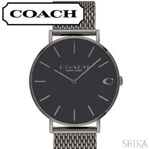 コーチ COACH チャールズ メンズ 時計  【14602145】グレー メッシュ|ryus-select