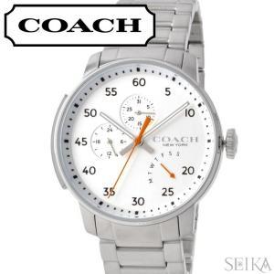 コーチ COACH ブリーカー メンズ 時計  【14602358】シルバーホワイト シルバー|ryus-select