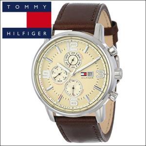 【商品入れ替えクリアランス】(56) トミーヒルフィガー メンズ 時計  (1710337)ブラウン レザー|ryus-select