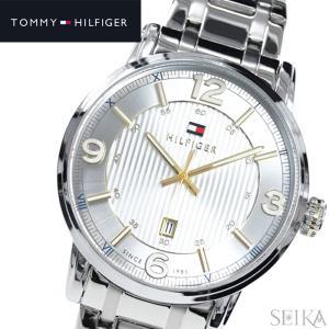 【35】  トミーヒルフィガー メンズ 時計 【1710344】シルバー ゴールド|ryus-select