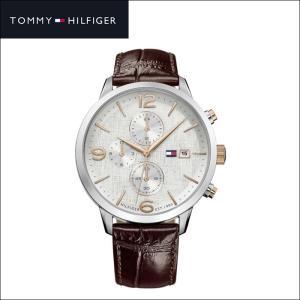 【商品入れ替えクリアランス】トミーヒルフィガー 1710360(148) メンズ 時計 腕時計  ネイビー ブラウン ラバー|ryus-select