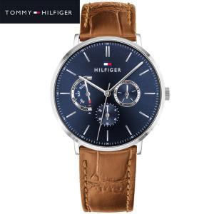 トミーヒルフィガー TOMMY HILFIGER 1710375(264)時計 腕時計 メンズ ネイビー ブラウン レザー マルチカレンダー 青い腕時計 ryus-select