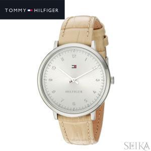 【商品入れ替えクリアランス】トミーヒルフィガー 1781765 (230) 時計 腕時計 レディース シルバー ライトベージュ レザー|ryus-select