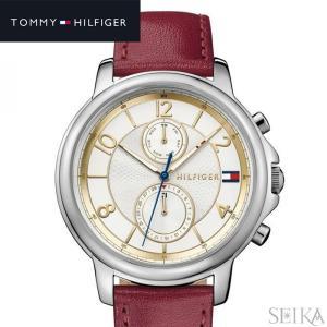 トミーヒルフィガー 1781816 (234)時計 腕時計 レディース ホワイト×ゴールド レッド レザー|ryus-select