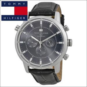 【12】  トミーヒルフィガー メンズ 時計 【1790875】 シルバー×ブラック ブラックレザー ryus-select