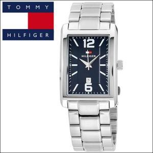 (5年保証) 時計 (38) トミーヒルフィガー メンズ (1791075) シルバー ネイビー スクエア|ryus-select