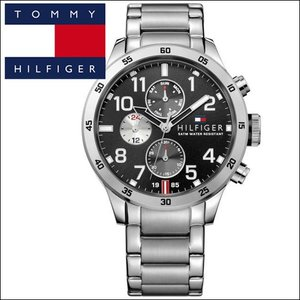 【73】 トミーヒルフィガー メンズ 時計 【1791141】シルバー ブラック|ryus-select