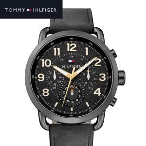 【商品入れ替えクリアランス】トミーヒルフィガー 1791426 (190) 時計 腕時計 メンズ  ブラック レザー|ryus-select