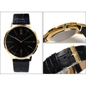 トミーヒルフィガー 1791517(251)時計 腕時計 メンズ レディース ユニセックス ブラック レザー 薄型腕時計/スリムモデル|ryus-select|02