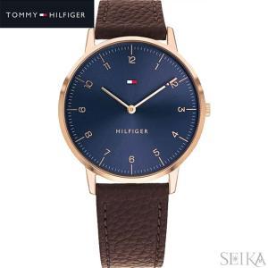 トミーヒルフィガー TOMMY HILFIGER 1791582(272)時計 腕時計 メンズ ネイビー ブラウン レザー 青い腕時計|ryus-select