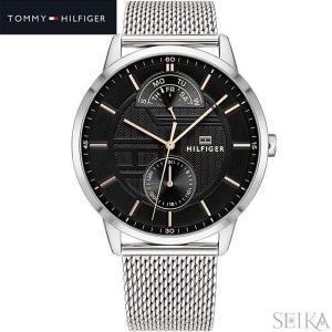 トミーヒルフィガー TOMMY HILFIGER 1791610(288)時計 腕時計 メンズ ブラック シルバー メッシュベルト 黒い腕時計 ryus-select
