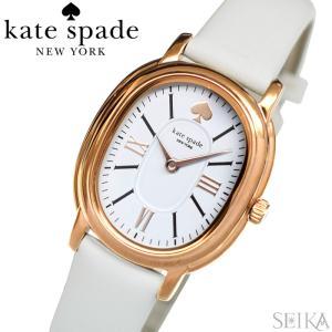 (レビューを書いて5年保証) ケイトスペード Kate spade (19)KSW1433 スタテン 時計 腕時計 レディース ピンクゴールド ホワイト レザー   (3x27) ryus-select