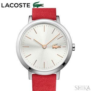 ラコステ LACOSTE 2001048 (132) 時計 腕時計 レディース シルバー レッド レザー 赤い腕時計|ryus-select