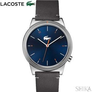 ラコステ LACOSTE 2010990(154) MOTION時計 腕時計 メンズ ネイビー グレー レザー 青い腕時計|ryus-select