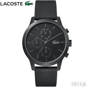 ラコステ LACOSTE 12.12 2010997(163)時計 腕時計 メンズ ブラック レザー 黒い腕時計|ryus-select