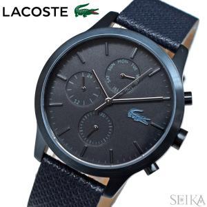 (サマークリアランス) (レビューを書いて5年保証) 時計 ラコステ LACOSTE 12.12 2010998 (164) 腕時計 メンズ ネイビー レザー 青い腕時計|ryus-select