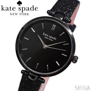 (レビューを書いて5年保証) ケイトスペード Kate spade (23)KSW1579 ホランド 時計 腕時計 レディース ブラック レザー グリッター   (3x27) ryus-select