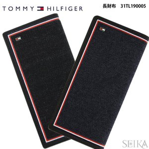 トミーヒルフィガー  長財布 31TL190005 (33)BLACK ブラック (34)NAVY/BROWN ネイビーメンズ レディース レザー デニム  (CPT)  父の日|ryus-select