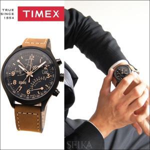 タイメックス TIMEX 時計 腕時計 メンズ  (T2N700(40))ブラック ブラウンレザー インテリジェントクォーツ レーシング フライバック ryus-select