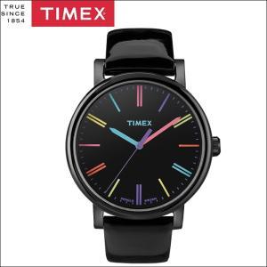 タイメックス TIMEX 時計 腕時計 ユニセックス  (T2N790(41))ブラック レザー カラフル モダンイージーリーダー メンズ レディース ryus-select