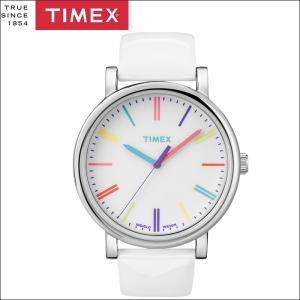 タイメックス TIMEX 時計 腕時計 ユニセックス  (T2N791(42))ホワイト レザー カラフル モダンイージーリーダー メンズ レディース ryus-select