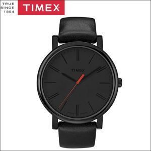 タイメックス TIMEX 時計 腕時計 メンズ  (T2N794(43))オールブラック レザー モダンイージーリーダー ryus-select