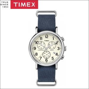 タイメックス TIMEX 時計 腕時計 メンズ  (TW2P62100(46))クリーム ネイビーレザー ウィークエンダー ryus-select