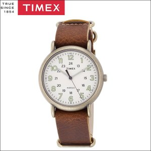タイメックス TIMEX 時計 腕時計 メンズ  (TW2P85700(49))ホワイト ブラウンレザー ヴィンテージ ウィークエンダー ryus-select