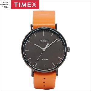 タイメックス TIMEX 時計 腕時計 メンズ  (TW2P91400(53))ブラック オレンジレザー ウィークエンダー ryus-select