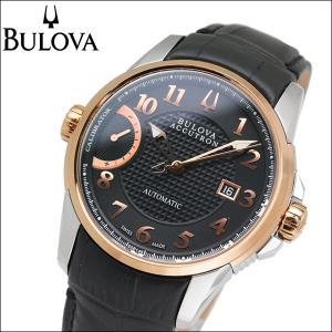 ブローバ BULOVA 65B148(9) 時計 腕時計 メンズ レザー 自動巻き|ryus-select