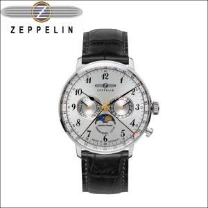 【当店ならお得クーポンあり】ツェッペリン ZEPPELIN 時計 腕時計 メンズ7036-1 シルバー ブラック レザー ryus-select
