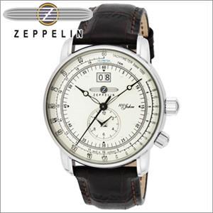 【当店ならお得クーポンあり】【2】ツェッペリン ZEPPELIN7640-1N 時計 腕時計 メンズブラウン シルバー レザー ryus-select