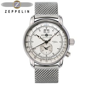 【当店ならお得クーポンあり】【7】ツェッペリン ZEPPELIN 時計 腕時計7640M-1シルバー メッシュベルト ryus-select