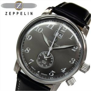 【当店ならお得クーポンあり】ツェッペリン ZEPPELIN7644-2 時計 腕時計 メンズグレー ブラック レザー ryus-select