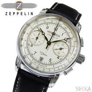 【当店ならお得クーポンあり】ツェッペリン ZEPPELIN 時計 腕時計 メンズ7674-1 アイボリー ブラック レザー ryus-select