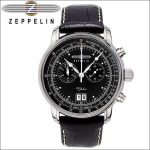 【当店ならお得クーポンあり】【クリアランス】 ツェッペリン ZEPPELIN7690-2 時計 腕時計 メンズブラック レザー ryus-select