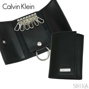 (5) カルバンクライン Calvin Kleinキーケース 79216 ブラック 6連 card ...