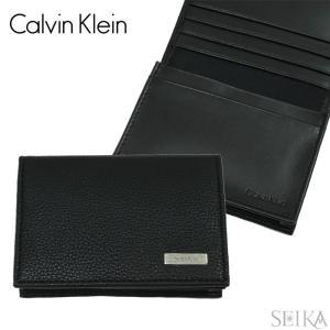 (4) カルバンクライン Calvin Kleinカードケース 名刺入れ79218 ブラック car...