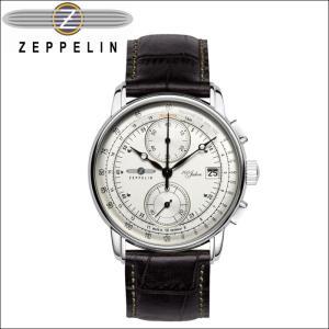 ツェッペリン ZEPPELIN 時計 腕時計 メンズ8670-1 アイボリー ブラック レザー ryus-select