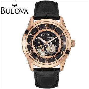 入荷待ち ブローバ BULOVA 97A116(13)時計 腕時計 メンズ ブラック レザー スケルトン 自動巻き|ryus-select
