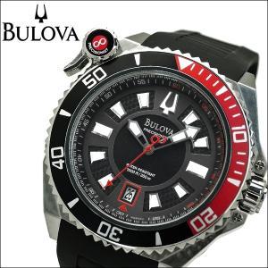 ブローバ BULOVA 98B166(3) プレシジョニスト キャタマウント時計 腕時計 メンズ ブラック レッド ラバー【30気圧防水】【300M防水】|ryus-select