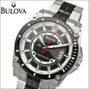 ブローバ BULOVA 98B180(10)プレシジョニスト シャンプレーン時計 腕時計 メンズ ブラック【30気圧防水】【300M防水】|ryus-select