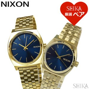 (レビューを書いて5年保証) 時計 ペアウォッチニクソン NIXON タイムテラーA045-1931 A1130-1931ブルー ゴールド メンズ レディース 腕時計 (SEIKA厳選ペア) ryus-select