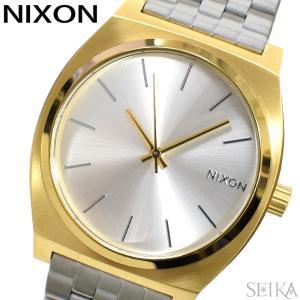 (サマークリアランス) 時計 ニクソン NIXON タイムテラー A045-2062 A0452062 腕時計 メンズ レディース シルバー×ゴールド メッシュ|ryus-select