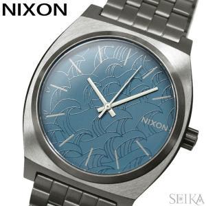 ニクソン タイムテラー A045-2854 腕時計 メンズ レディース ユニセックス ネイビー ガンメタル A0452854-00|ryus-select