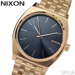 ニクソン タイムテラー A045-3005 腕時計 メンズ レディース ローズゴールド ネイビー A0453005-00|ryus-select