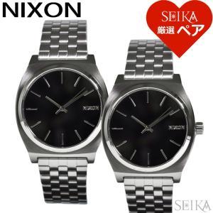 (レビューを書いて5年保証)  (ペア価格) ペアウォッチ ニクソン  腕時計(同型ペア) メンズ レディース A045-3116(A0453116) ブラック シルバー 父の日 ryus-select