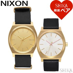 (レビューを書いて5年保証)  (ペア価格) ペアウォッチ ニクソン 腕時計メンズ A045-513 レディース A1172-2774  ブラック ゴールド ホワイト レザー|ryus-select
